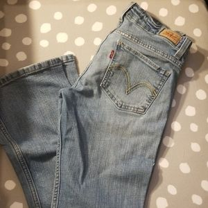 Women's Levi's 524 too super low bootcut jeans